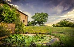 Tuscan sunset stock photography