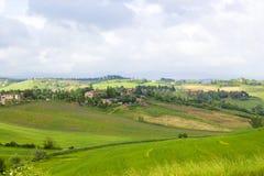 Tuscan typowy krajobraz Zdjęcie Stock