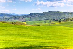 Tuscan Val d'Orcia landscape Royalty Free Stock Photos