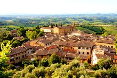 Tuscan view Stock Images