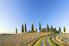 Tuscan villa on a hill in Italy Royalty Free Stock Image