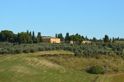 Tuscan Villa in the Italian Countryside. Gorgeous Tuscan villa in the Italian countryside Stock Images