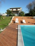 Tuscan villa Italy with   pool Stock Photo