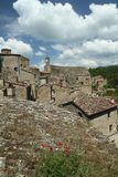 Tuscan village. Sorano - ancient medieval hill town in Tuscany, Italy Stock Photography