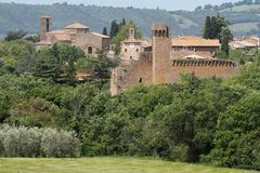 Tuscan village Stock Photos