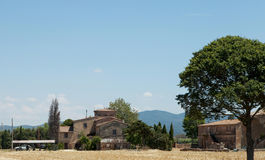 Tuscan village landscape Royalty Free Stock Image