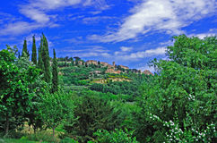 Tuscan Village of Montepulciano Stock Photo