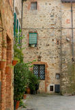 Tuscan village. A small street in a tiny village in Tuscany Stock Photography