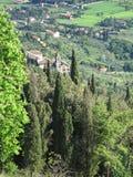 Tuscan vista. Vista of countryside in Tuscany near Cortona, Italy Royalty Free Stock Photos