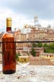 Tuscan white wine Stock Photography