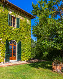 Tuscan Winery. Beautiful winery on a sunny autumn day in Tuscany, Italy Royalty Free Stock Image