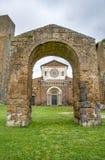 Tuscania church arc - Viterbo - travel italy Royalty Free Stock Image