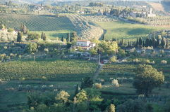 Tuscany. View of Tuscany, most beautiful part of Italy Stock Photos