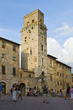 Tuscany. Square in the historic city downtown of San Gimignano, Tuscany, Italy Stock Photography