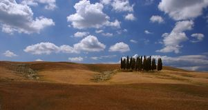 Tuscany. The typical landscape of the tuscan region in italy Stock Image