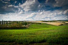 Tuscany. Scenic view of typical Tuscany landscape Royalty Free Stock Image