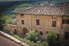 Tuscany. Typical Tuscany architecture-San Gimignano,Italy Stock Photography