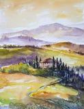 tuscany royaltyfri illustrationer