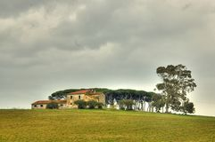Tuscany. Hdr image of a countryside home in Tuscany Stock Image