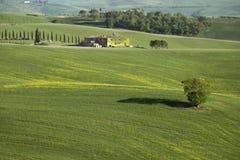Tuscany farmland hill fields in Italy Royalty Free Stock Photo