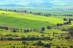 Tuscany farmland hill fields in Italy Stock Images