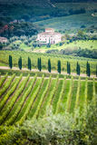 Tuscany. Beautiful view of the autumn landscape in Tuscany, Italy Stock Photos