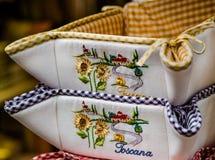 Tuscany bread basket Stock Photography