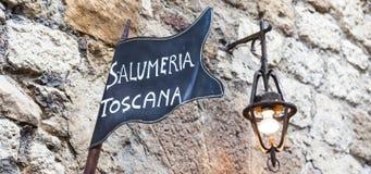Tuscany butchery Stock Image