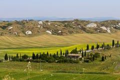 Tuscany bygd arkivbild