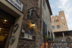 Tuscany Certaldo krog Fotografering för Bildbyråer
