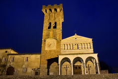 Tuscan church in Pieve San Paolo of Capannori Royalty Free Stock Photo