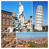 Tuscany. Collage made of photos of Tuscany Stock Images