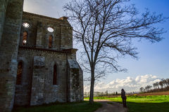 Tuscany country with church Royalty Free Stock Photos
