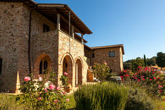 Tuscany country house Stock Photos