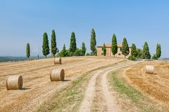 Tuscany country house Royalty Free Stock Photography