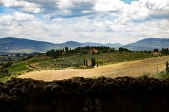 Tuscany country landscape from Impruneta royalty free stock photography