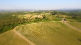 Tuscany countryside hills, stunning aerial view in spring Royalty Free Stock Photography