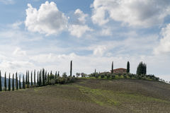 Tuscany countryside landscape in Val D'Orcia, Italy Stock Photography