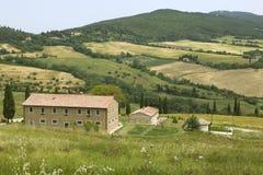 TUSCANY countryside,little farm Stock Photos