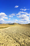 Tuscany, Crete Senesi farmland country landscape, Italy. Stock Photography