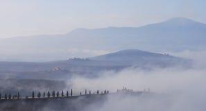 Tuscany at dawn stock photo