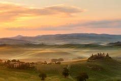 Tuscany at dawn Royalty Free Stock Photography
