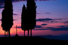 Tuscany at dawn Stock Images