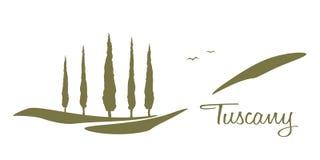 Tuscany diagram royaltyfri illustrationer