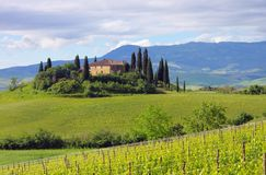Tuscany dom Zdjęcie Royalty Free
