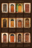 2014 Tuscany Doors Calendar. 2014 Calendar with twelve pictures of traditional doors of Tuscany Stock Photo