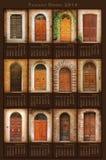 2014 Tuscany drzwi kalendarz Zdjęcie Stock