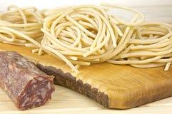 Tuscany durum wheat semolina pasta Royalty Free Stock Images