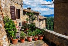 Tuscany essentials, San Giminiano. San Giminiano, Tuscany, Italy 2016 Stock Photos