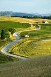 TUSCANY FARM WHIT ROAD Royalty Free Stock Image
